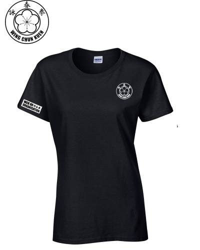 WCKUK Womens Black Cotton T-Shirt